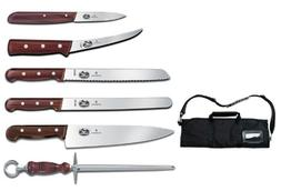 Victorinox 7-Piece Rosewood Handle Cutlery Set with Black Ca