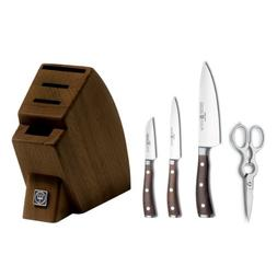 Wusthof Ikon Blackwood 5 Piece Studio Knife Block Set