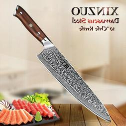 XINZUO10 inch chef knife Damascus kitchen knife cleaver knif