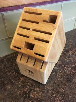 ZWILLING J A Henckels 14 Slot Wooden Solid Wood Knife Block
