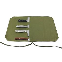 A Chef's Knife Roll Bag - Portable Travel Chef Knife Case Ca