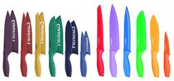 Cuisinart Advantage 12-Piece Color Knife Sets with Blade Gua