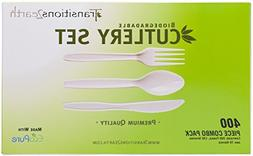 Transitions2earth Biodegradable EcoPure Fork, Knife, Spoon C