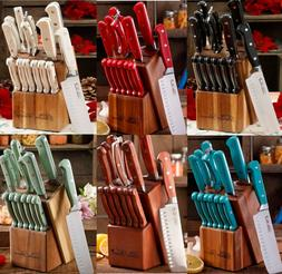 Kitchen Knife Set Block The Pioneer Woman Stainless Steel Cu