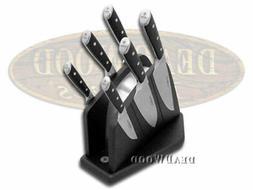 Boker 03BO510SET Forge Knife Block Set, Black