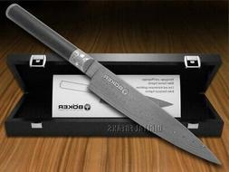 BOKER 130801DAM Damascus Superior Utility Knife, Black