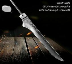 Bone Cutter Knife Damascus Steel Cutting Slicing Tool Kitche