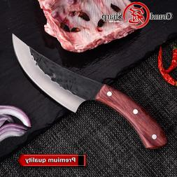 Boning <font><b>Knife</b></font> Handmade Forged Hammered Ch