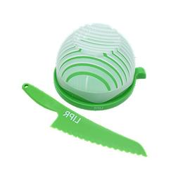 LIPR Large BPA Free Salad Cutter and Bowl with Lettuce Knife