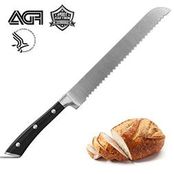 Bread Knife 8-Inch, CUSIBOX Stainless Steel Bread Slicer Kni