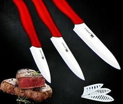 Ceramic Cooking Knives Set Slicing Cutting Wave Handle Kitch