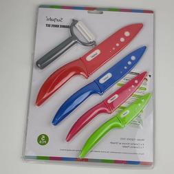 "Ceramic Knife 3"" 4"" 5"" 6"" White Blade Peeler Slicer Kitchen"