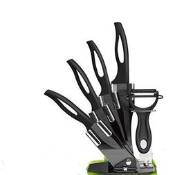 Ceramic Knife Set,Kitchen Cutlery Knife Set with Adjustable