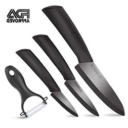 Ceramic Knife Set With Sheaths - Super Sharp & Rust Proof &