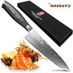 YARENH Chef Knife 8 Inch,Damascus Kitchen Knives Professiona