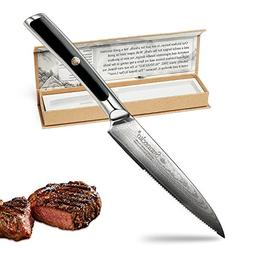 Chef Knife-5inch Damascus Kitchen Knife -Best Quality Japane