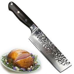 Yarenh Chef Knife Nakiri 6.5 Inch,Sharp Blade of Vegetable K