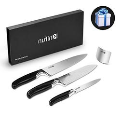 Knifun Kitchen Knife Set in Gift Box, Stainless Steel Chef K