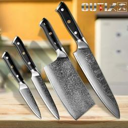 XITUO Chef Knife Set Damascus Steel Sharp Knife Sankotu Chin