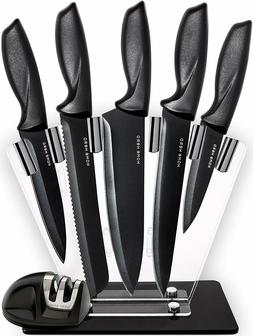 Chef Knife Set Knives Kitchen Set-7 Piece Stainless Steel Cu