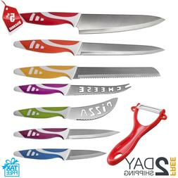 OxGord Professional Chef Knives, Multi Use 8pc Gift Set for
