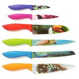 Chef's Vision 6-Piece Wildlife Series Kitchen Knife Set in B