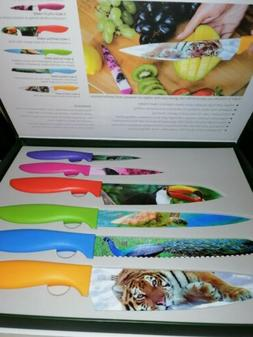 Chef's Vision 6-Piece Wildlife Series Kitchen Knife Set in B