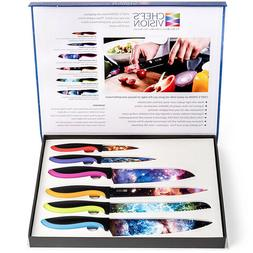 Chef's Vision 6-Piece Cosmos Series Kitchen Knife Set Box