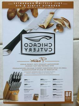 Chicago Cutlery Stainless Steel Fusion 18 Piece Knife Block
