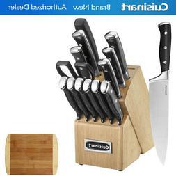 Cuisinart - Classic C77btr-15p 15-piece Knife Set - Black/st