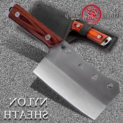 GRANDSHARP Cleaver <font><b>Knife</b></font> Hand Forged Che