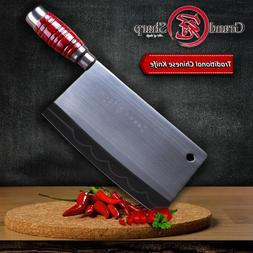 Cleaver Knife Carbon Steel Traditional Chinese Kitchen Knive