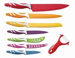 Lightahead LA-MS04 8 pcs Colorful Stainless Steel Kitchen Kn