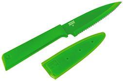 "Kuhn Rikon Colori+ Serrated Paring Knife, 4"", Green"