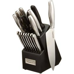 Knife Set Stainless Steel With Wooden Block Complete Range O