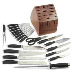 Calphalon Contemporary Cutlery 21 Piece Set, Black