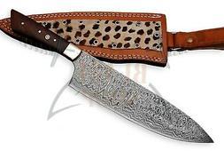 Custom Damascus steel BLADE KITCHEN KNIFE/CHEF KNIFE ROSE WO