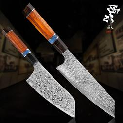 XITUO Damascus Chef <font><b>Knife</b></font> Japanese Santo