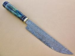 Damascus Handmade Custom Chef Kitchen Knife Professional Col