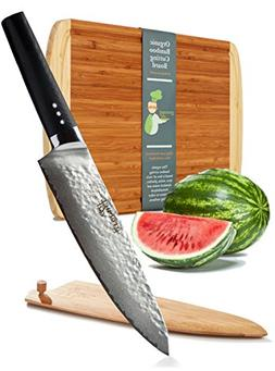 Damascus Chef Knife - Professional Japanese VG10 Gyuto w/FRE