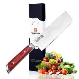 """Ding 7""""  Nakiri Vegetable Knife Stainless Steel Chef's Slici"""