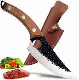DTDNFE Kitchen Viking Boning Knife Butcher Meat Cleaver Scim
