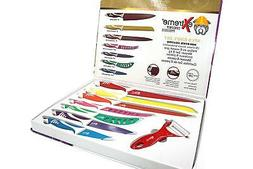 Color Coded Kitchen Cutlery Set - 8 Piece Culinary Knife Set