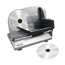 MLITER 150W Electric Food & Meat Slicer Machine with 2 Blade