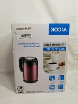 Aicok Electric Kettle Double Wall Cool Touch 1500W Stainless