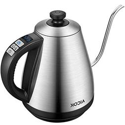 Aicok Electric Kettle  Electric Gooseneck Kettle with Temper