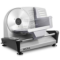 Electric Meat Deli Cheese Food Slicer, Aicok Precisely Cuts