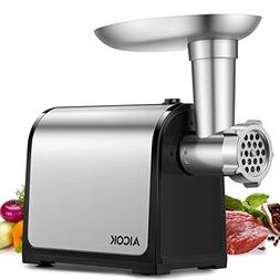 Aicok Electric Meat Grinder, Stainless Steel Meat Mincer & S