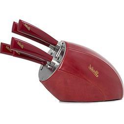 Berkel Elegance Sense Knife block with 5 piece set red