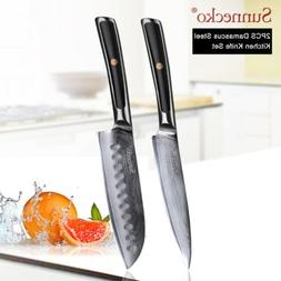 Elite 2PCS Kitchen knife Set VG10 Damascus Steel Utiiity San